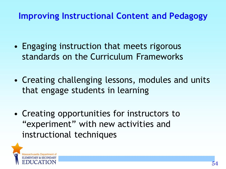 Improving Instructional Content and Pedagogy