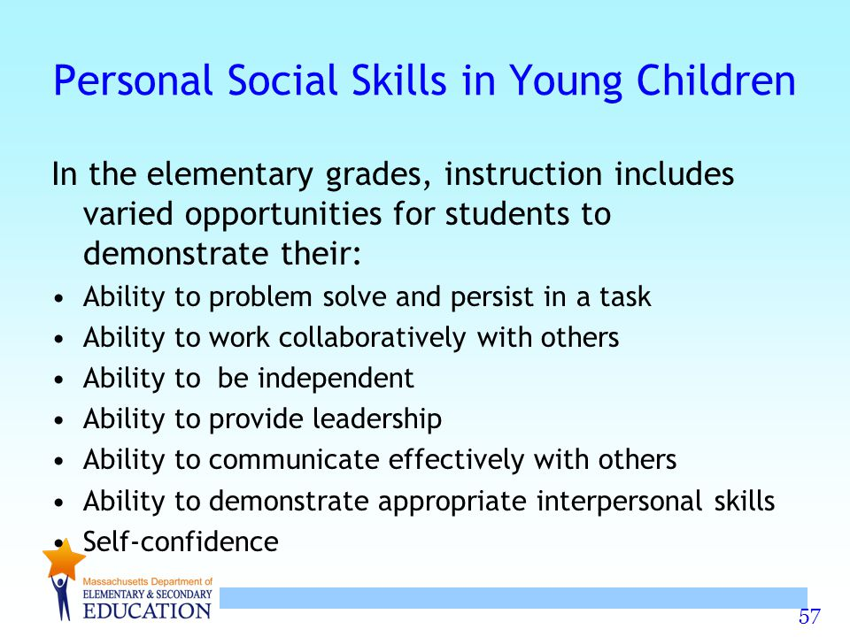 Personal Social Skills in Young Children