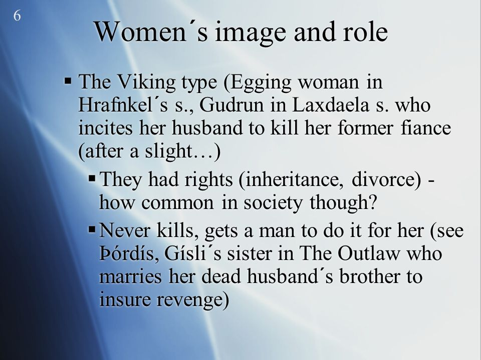 6 Women´s image and role.