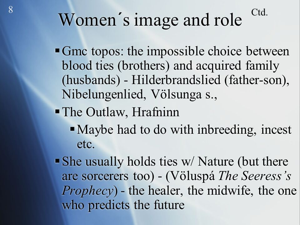8 Women´s image and role. Ctd.