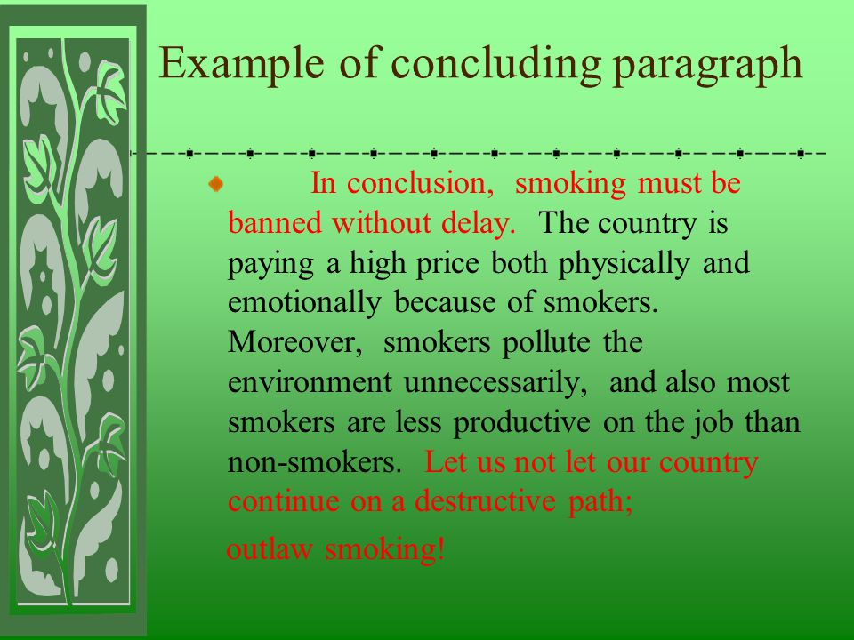 progressive paragraph about smoking Smoking has become a major problem, especially, in those areas that as densely populated some people are addicted to smoking, and they cannot be.