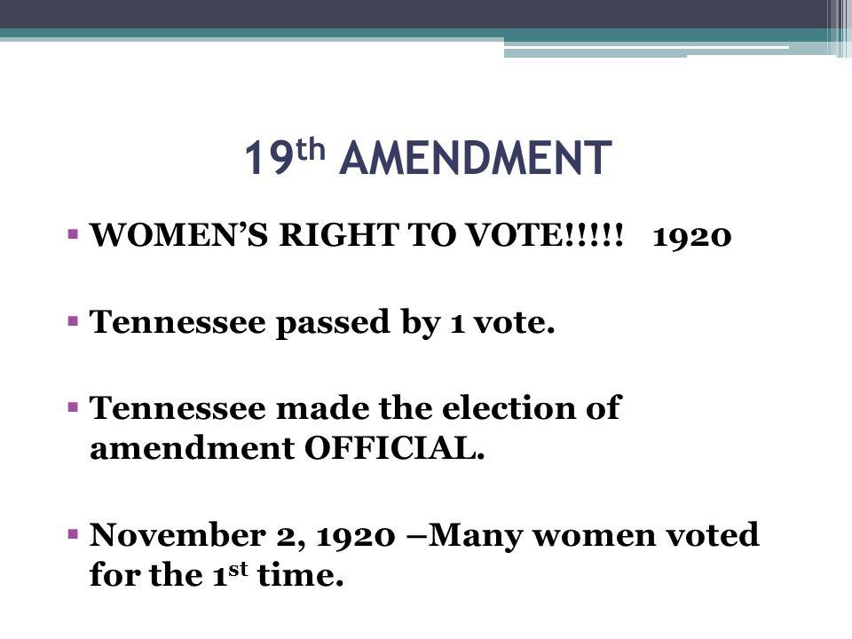 19th AMENDMENT WOMEN'S RIGHT TO VOTE!!!!! 1920