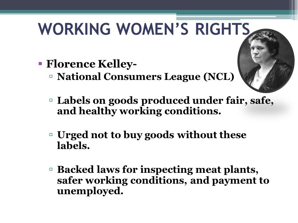 WORKING WOMEN'S RIGHTS