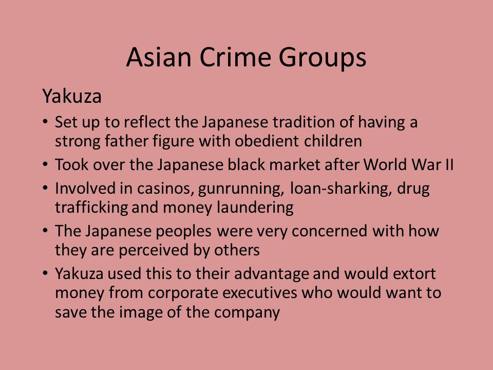 Asian Crime Groups Yakuza