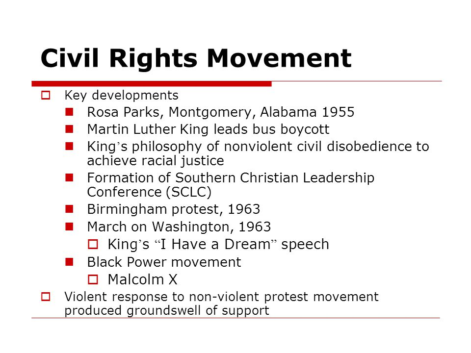 Civil Rights Movement King's I Have a Dream speech Malcolm X