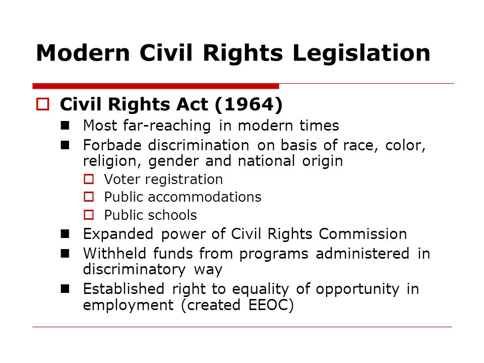 Modern Civil Rights Legislation