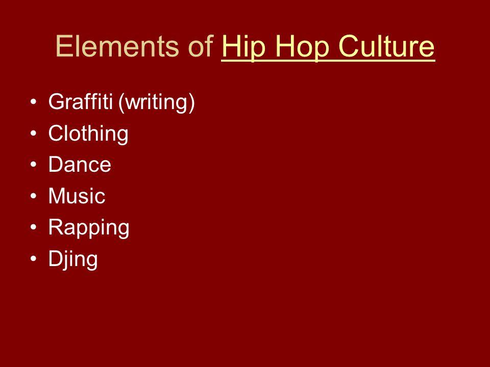 Elements of Hip Hop Culture
