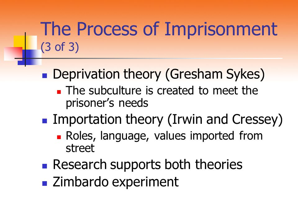 The Process of Imprisonment (3 of 3)