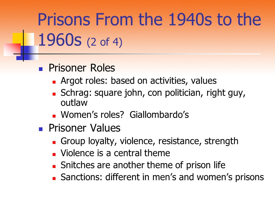 Prisons From the 1940s to the 1960s (2 of 4)
