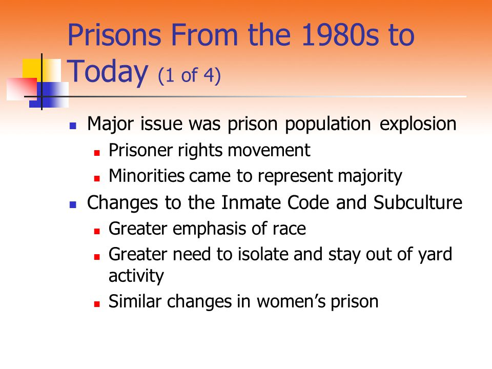 Prisons From the 1980s to Today (1 of 4)