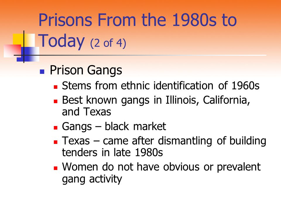 Prisons From the 1980s to Today (2 of 4)