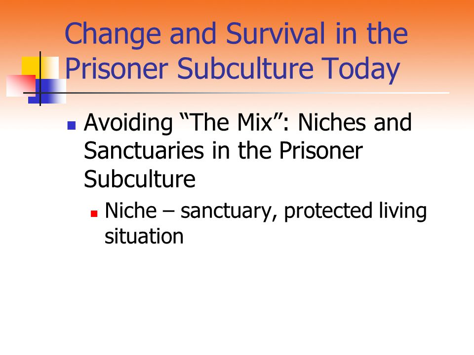 Change and Survival in the Prisoner Subculture Today