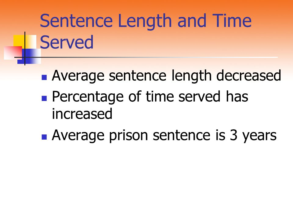 Sentence Length and Time Served