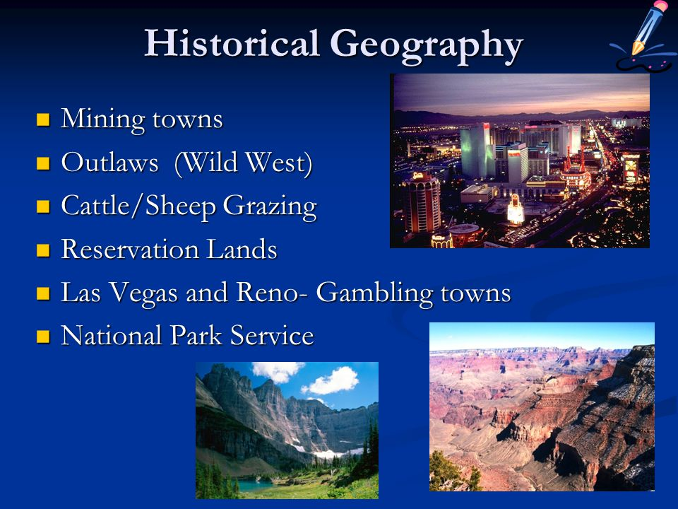 Historical Geography Mining towns Outlaws (Wild West)