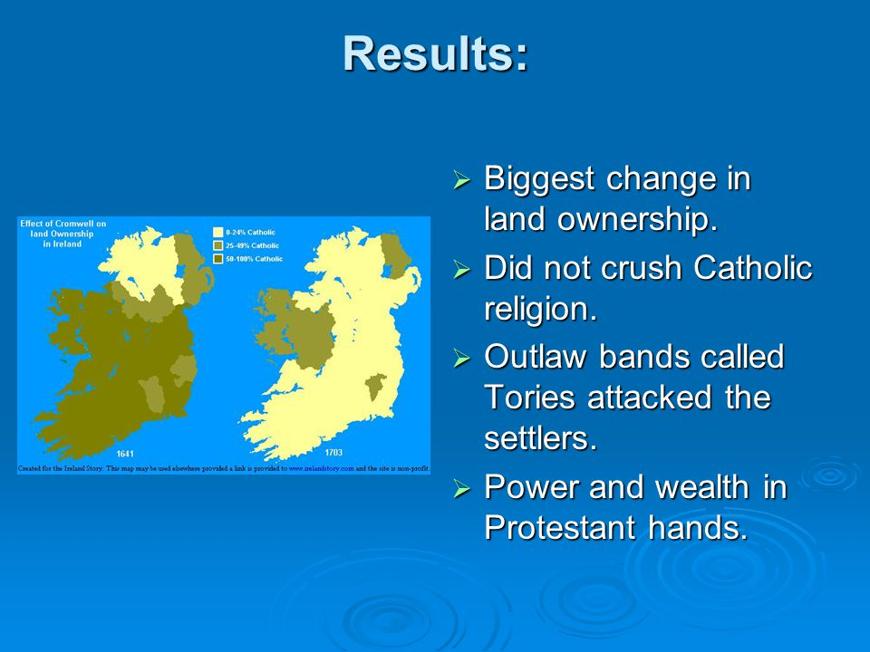 Results: Biggest change in land ownership.