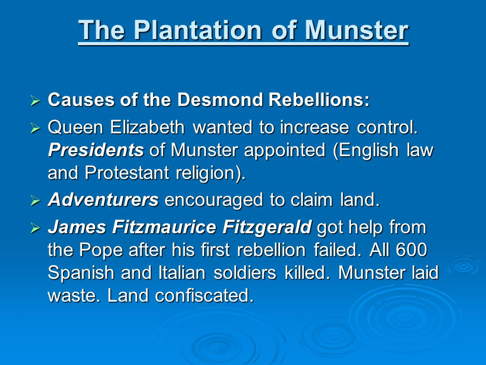 The Plantation of Munster