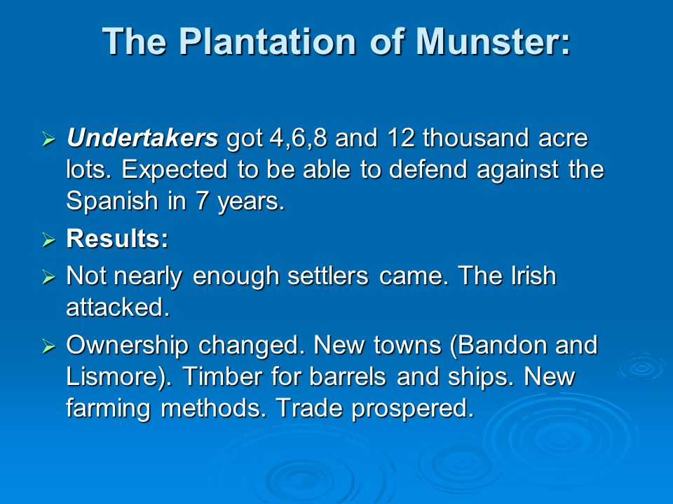 The Plantation of Munster: