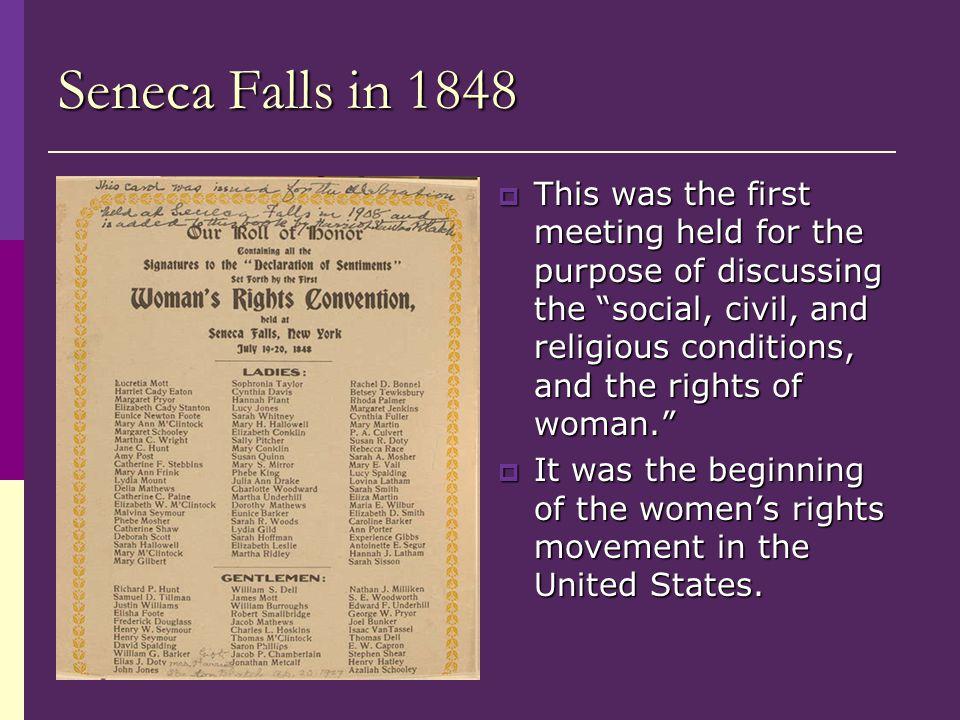 Seneca Falls in 1848