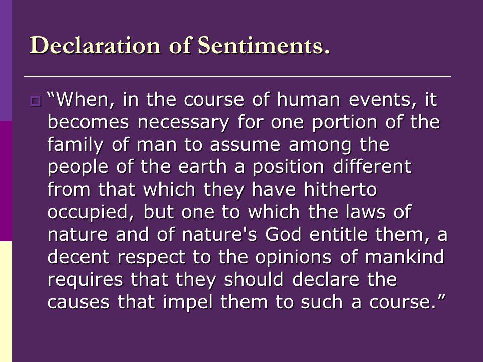 Declaration of Sentiments.