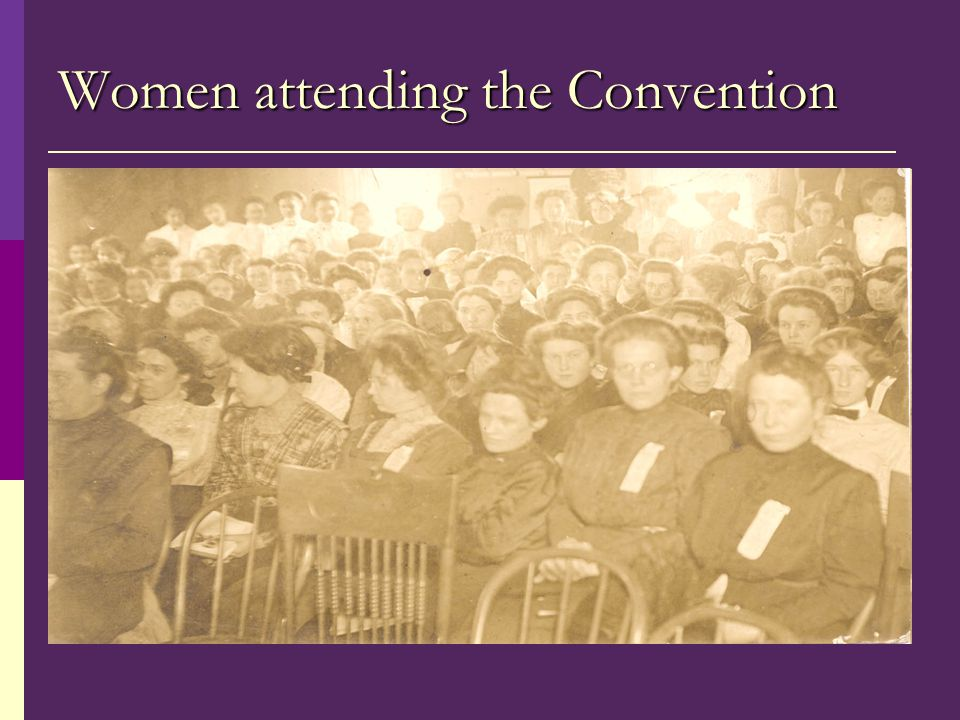 Women attending the Convention