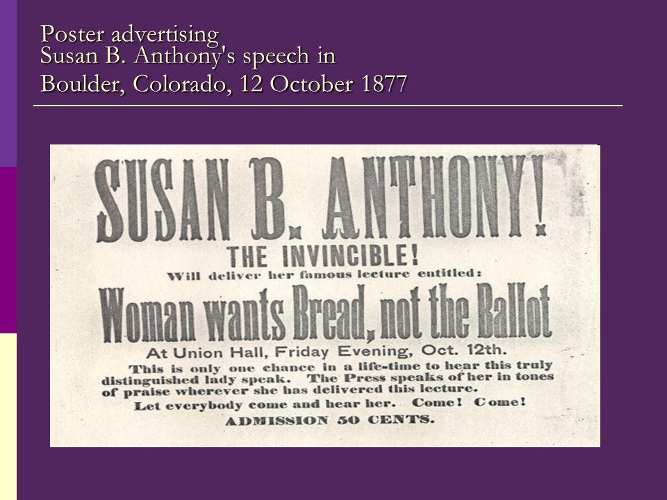 Poster advertising Susan B
