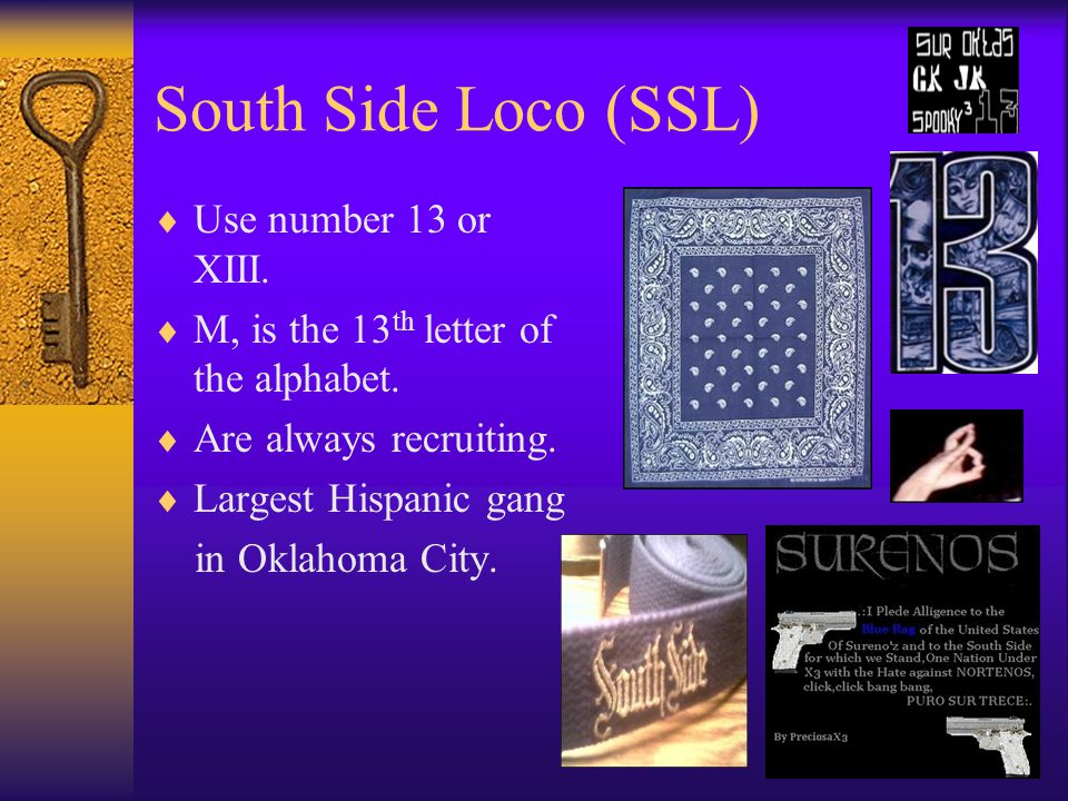 South Side Loco (SSL) Use number 13 or XIII.