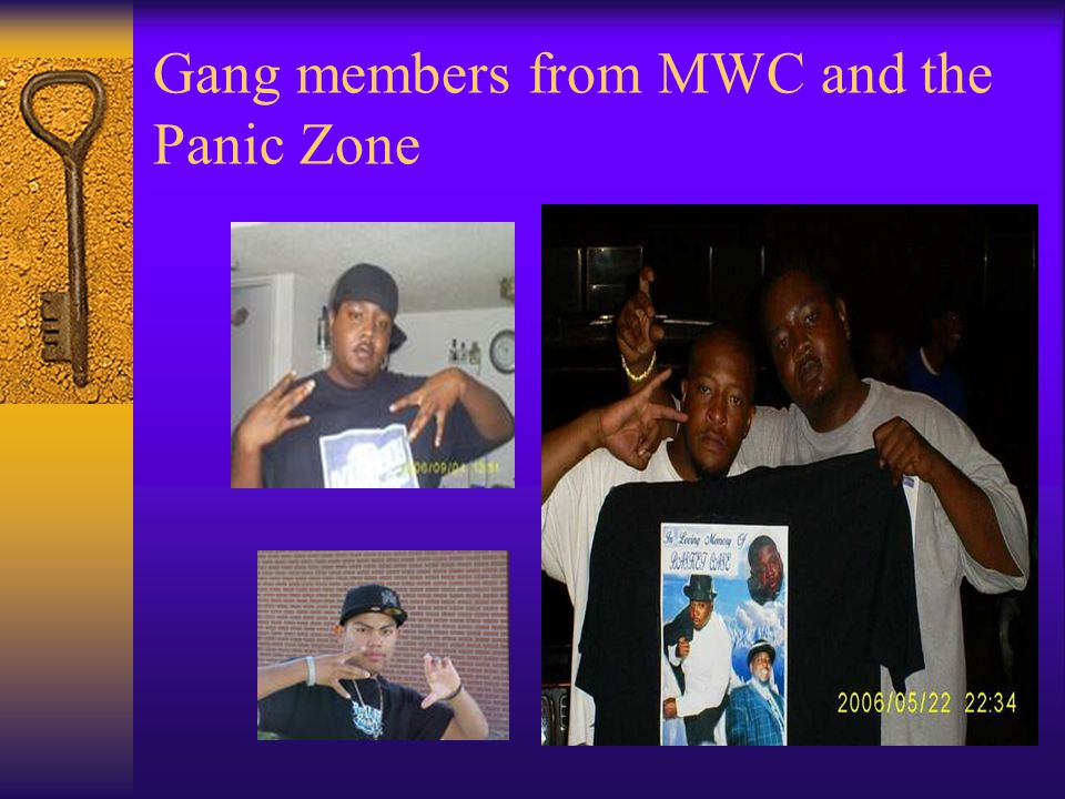 Gang members from MWC and the Panic Zone
