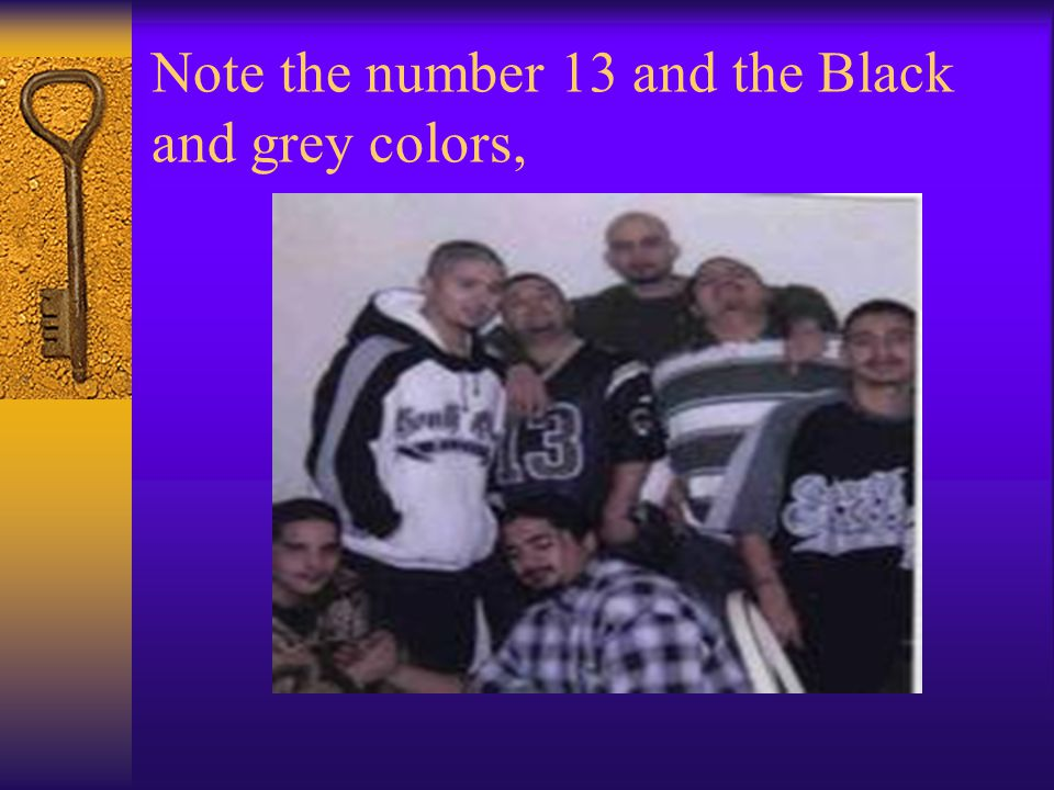 Note the number 13 and the Black and grey colors,