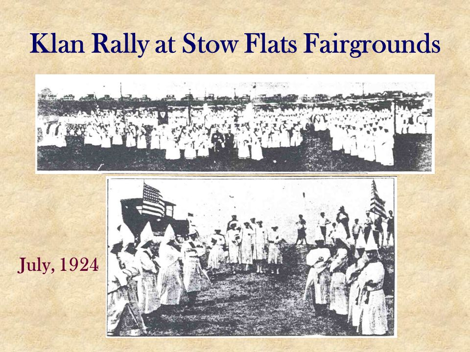 Klan Rally at Stow Flats Fairgrounds