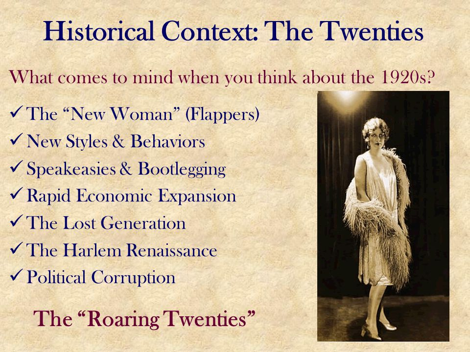 Historical Context: The Twenties