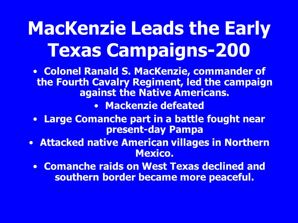 MacKenzie Leads the Early Texas Campaigns-200