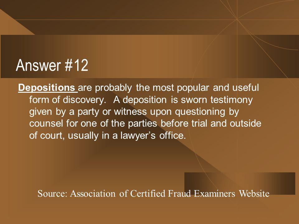 Answer #12