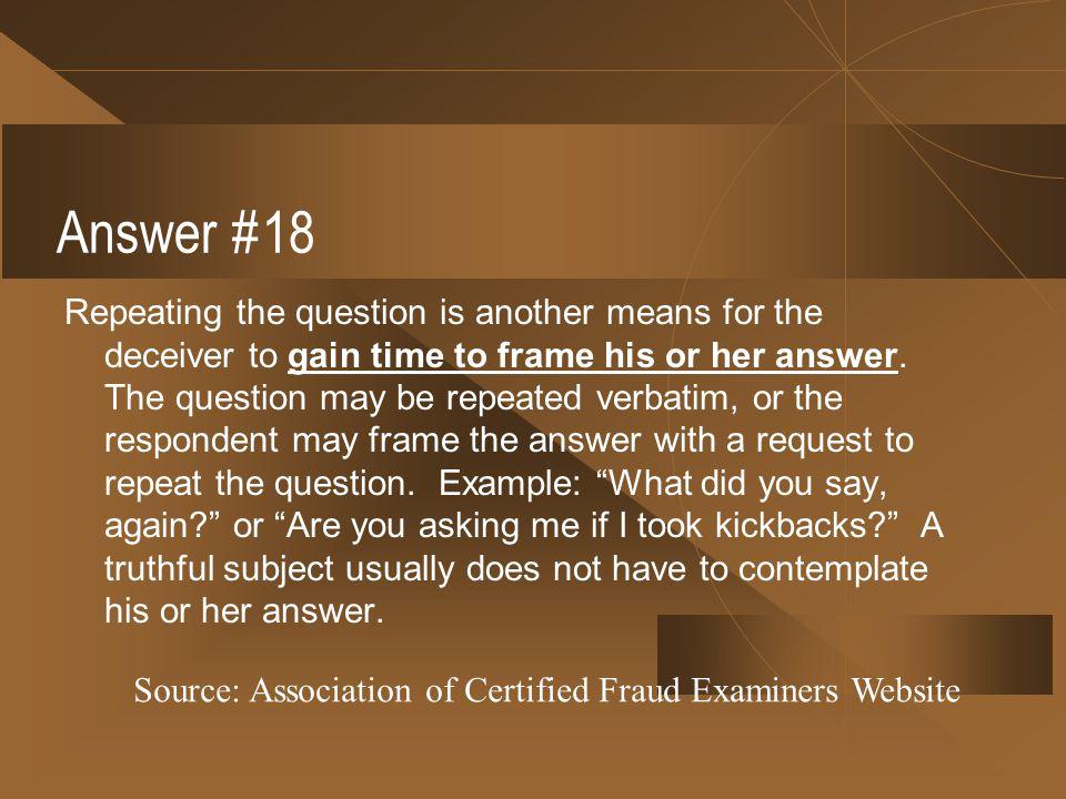 Answer #18