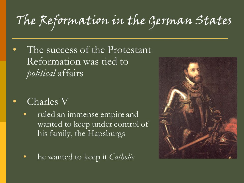 The Reformation in the German States