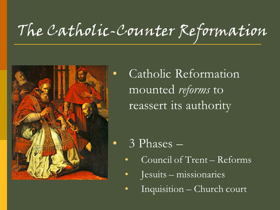 The Catholic-Counter Reformation