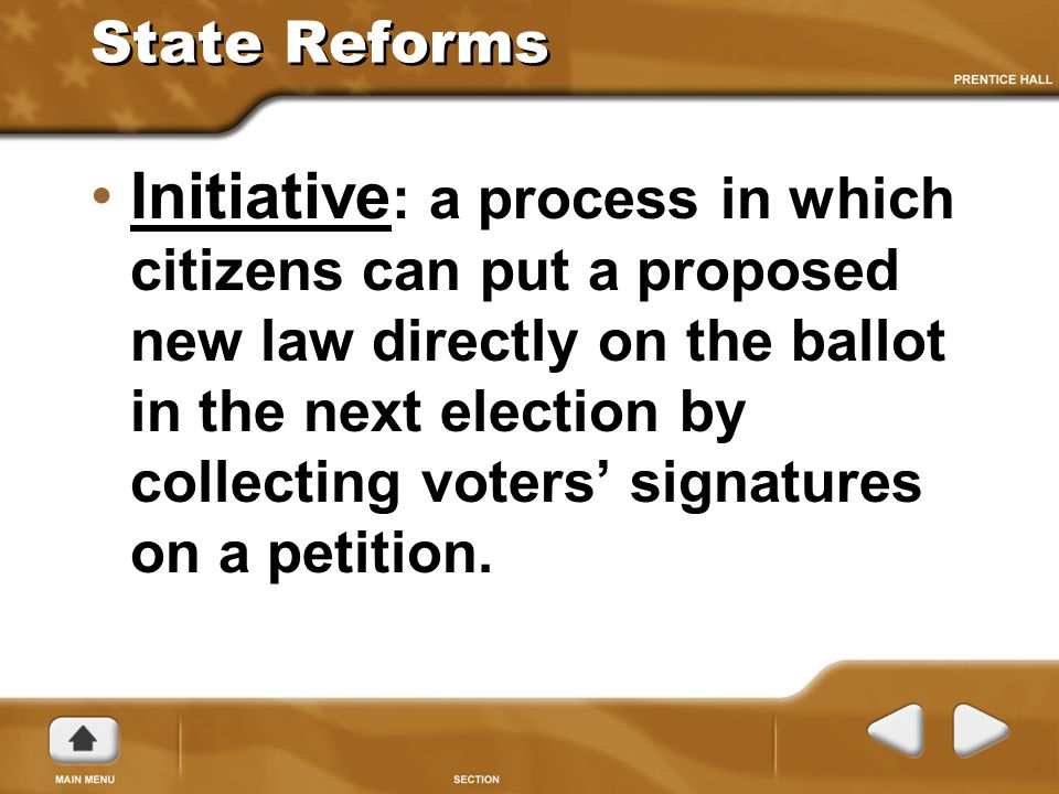 State Reforms