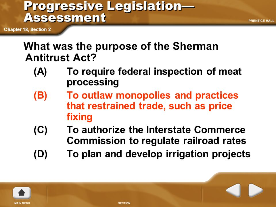 Progressive Legislation—Assessment