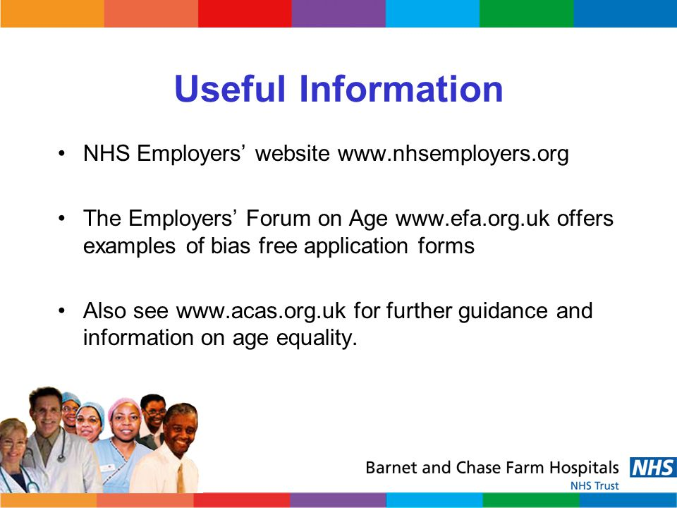 Useful Information NHS Employers' website www.nhsemployers.org