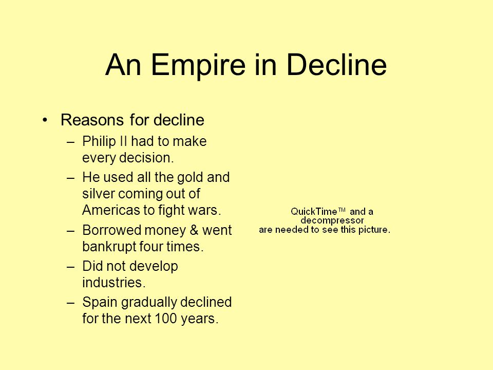 An Empire in Decline Reasons for decline