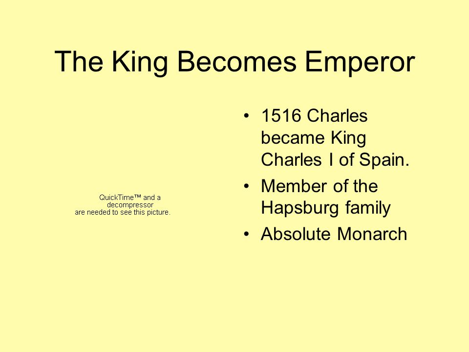 The King Becomes Emperor