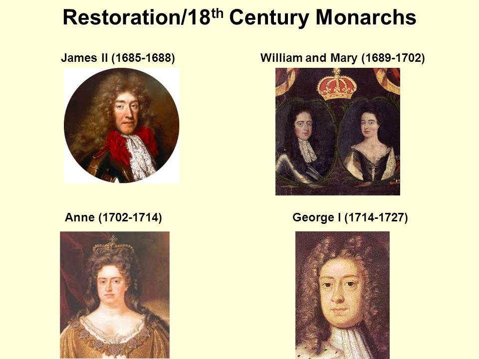 Restoration/18th Century Monarchs