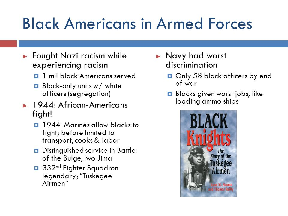 Black Americans in Armed Forces