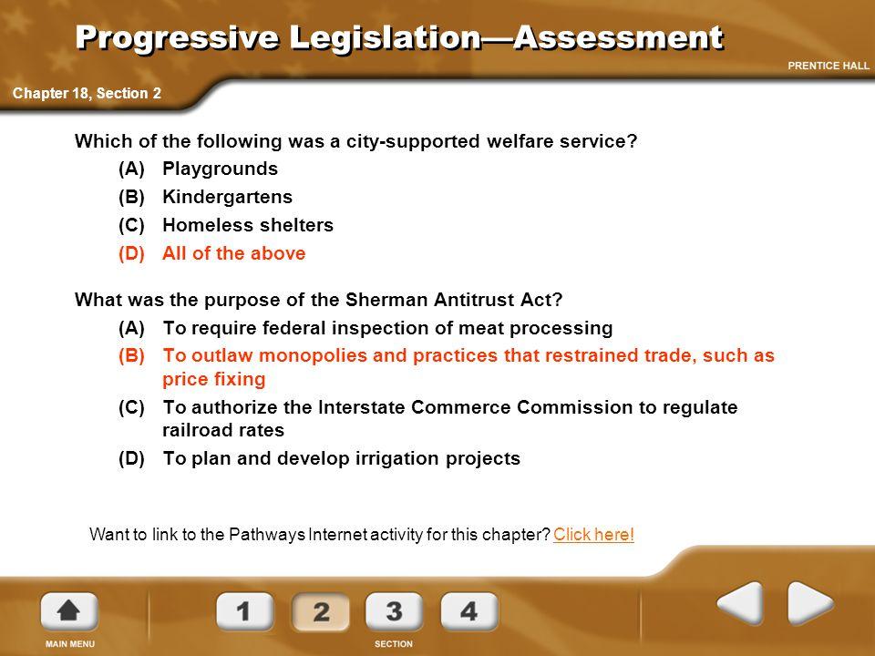 Progressive Legislation—Assessment