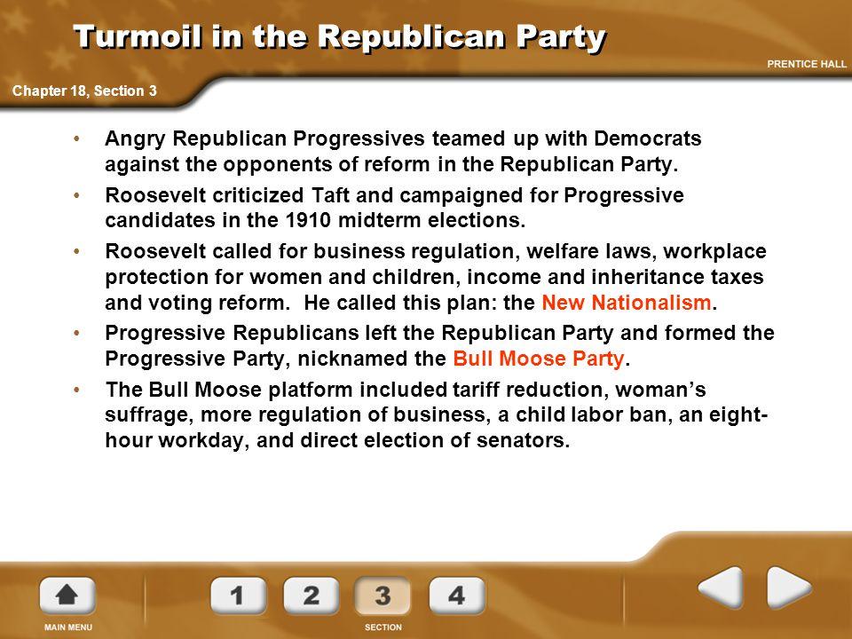Turmoil in the Republican Party