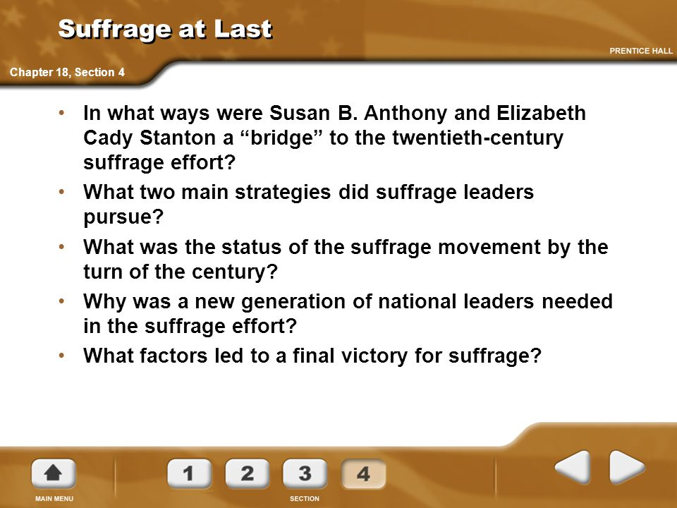 Suffrage at Last Chapter 18, Section 4.