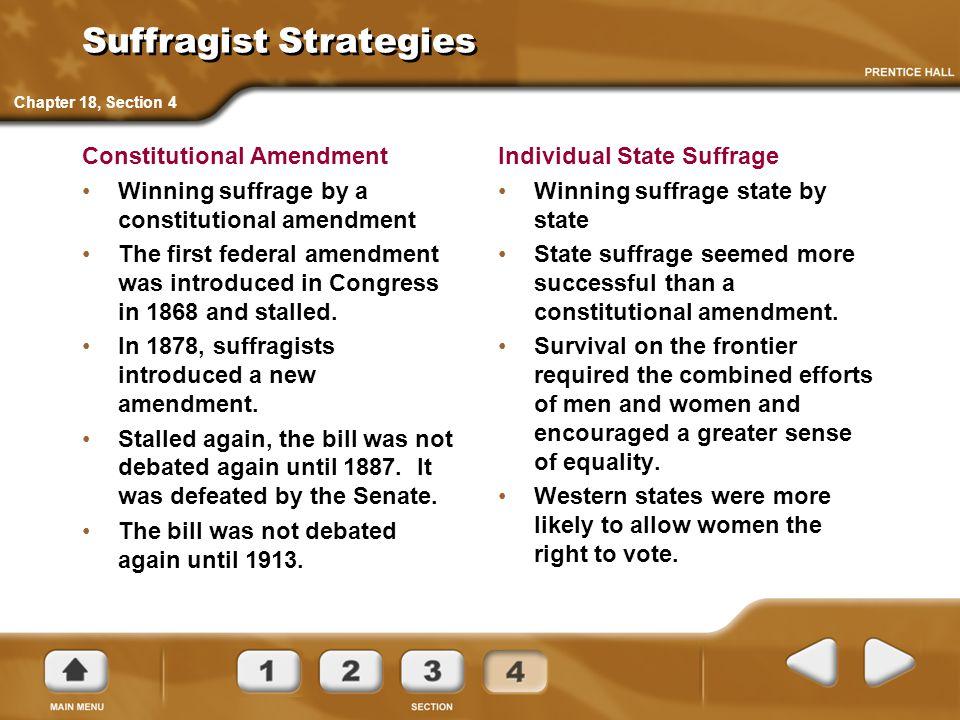 Suffragist Strategies