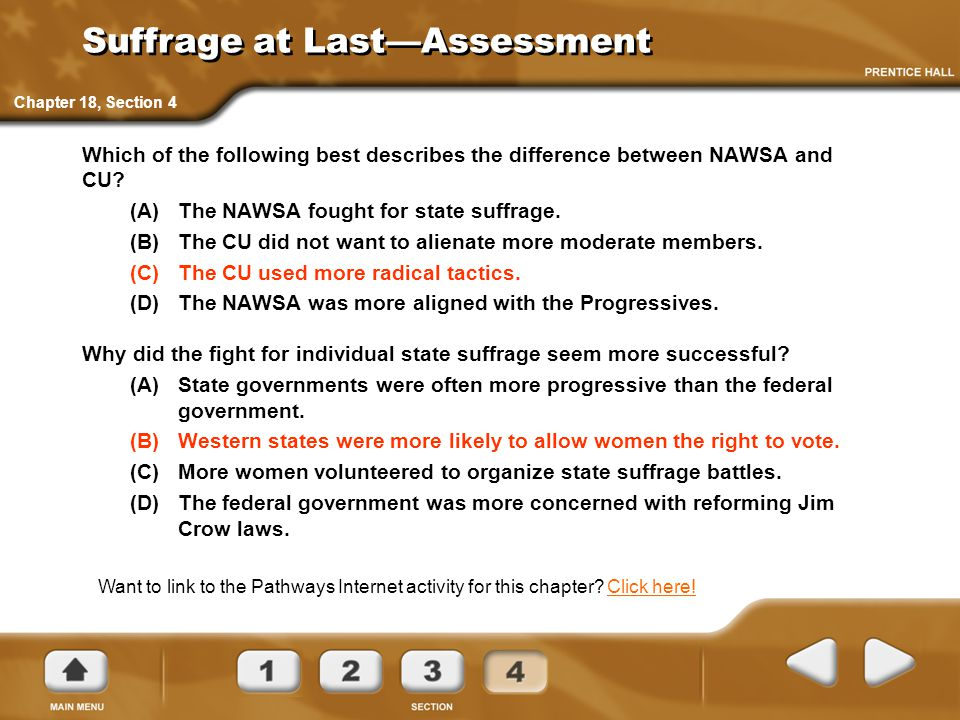 Suffrage at Last—Assessment