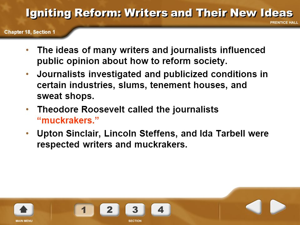 Igniting Reform: Writers and Their New Ideas