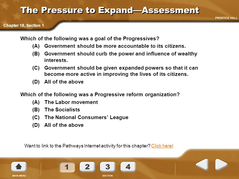 The Pressure to Expand—Assessment