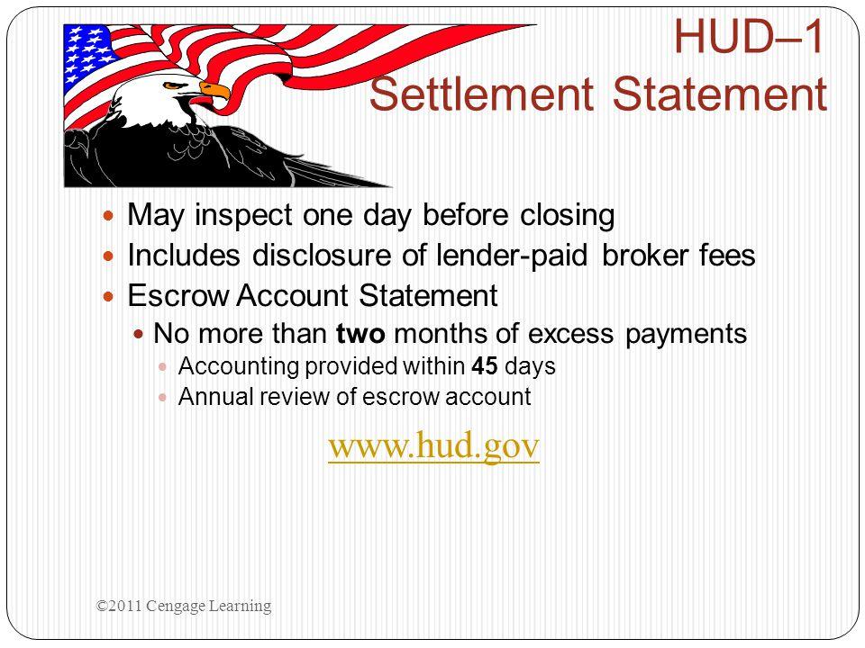 HUD–1 Settlement Statement